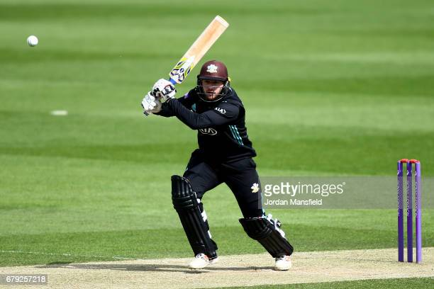 Mark Stoneman of Surrey bats during the Royal London OneDay Cup match between Surrey and Middlesex at The Kia Oval on May 5 2017 in London England
