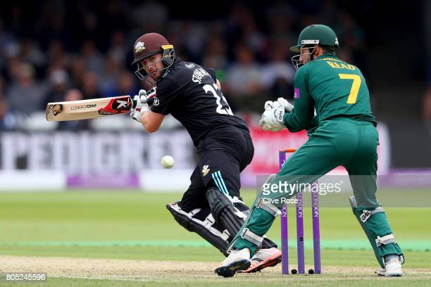 Mark Stoneman of Surrey in action during the Royal London OneDay Cup Final betwen Nottinghamshire and Surrey at Lord's Cricket Ground on July 1 2017...