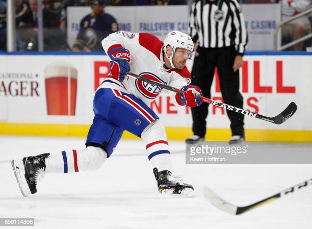 Mark Streit of the Montreal Canadiens during the game against the Buffalo Sabres at the KeyBank Center on October 5 2017 in Buffalo New York