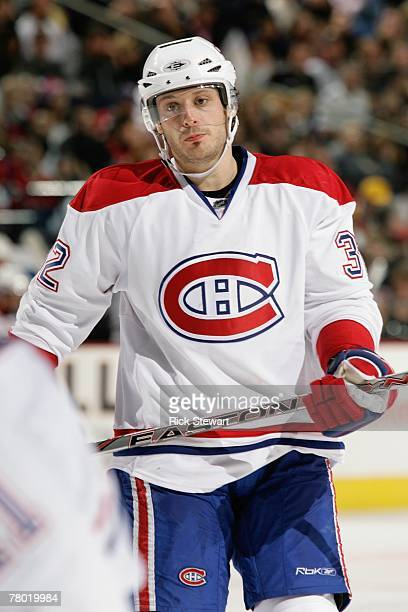 Mark Streit of the Montreal Canadiens looks on against the Buffalo Sabres on November 16 2007 at HSBC Arena in Buffalo New York