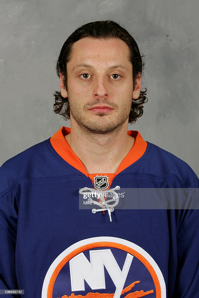 Mark Streit of the New York Islanders poses for his official head shot on September 12 2009 at Nassau Coliseum in Uniondale New York
