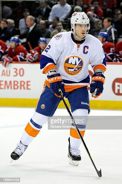 Mark Streit of the New York Islanders skates during the NHL game against the Montreal Canadiens at the Bell Centre on December 13 2011 in Montreal...