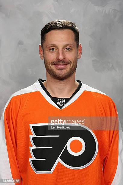 Mark Streit of the Philadelphia Flyers poses for his official headshot for the 20162017 season on October 11 2016 at the Virtua Flyers Skate Zone in...