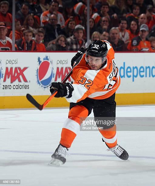 Mark Streit of the Philadelphia Flyers skates against the Montreal Canadiens at the Wells Fargo Center on December 12 2013 in Philadelphia...