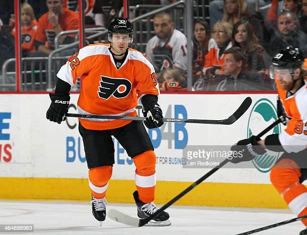 Mark Streit of the Philadelphia Flyers skates against the Montreal Canadiens on January 8 2014 at the Wells Fargo Center in Philadelphia Pennsylvania