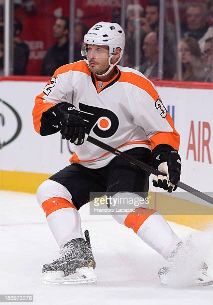 Mark Streit of the Philadelphia Flyers skates during the NHL game against the Montreal Canadiens on October 5 2013 at the Bell Centre in Montreal...