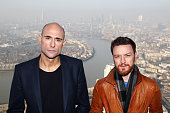 Mark Strong and James McAvoy attend a photocall for 'Welcome to the Punch' at One Canada Square on March 5 2013 in London England