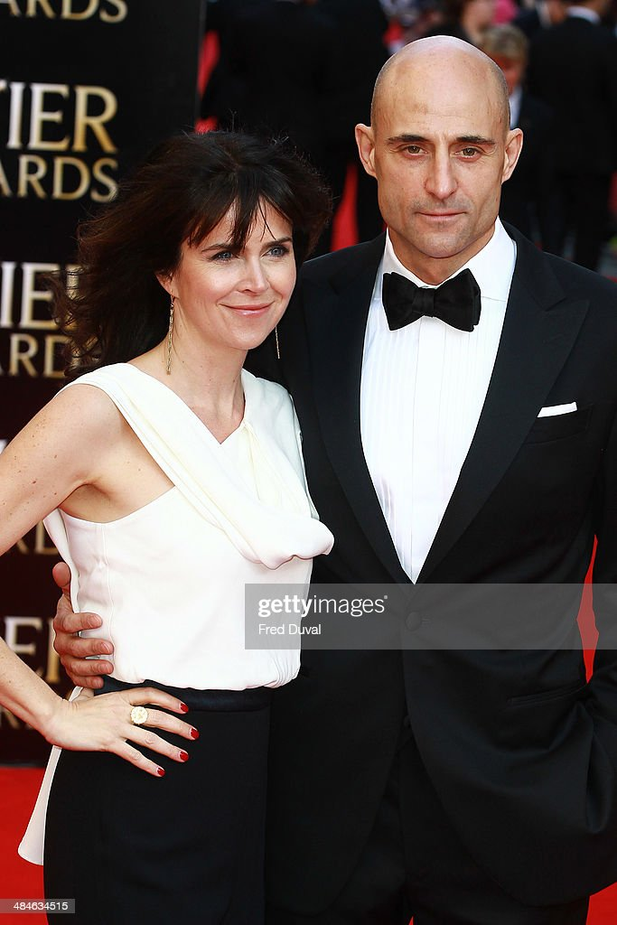 <a gi-track='captionPersonalityLinkClicked' href=/galleries/search?phrase=Mark+Strong&family=editorial&specificpeople=750895 ng-click='$event.stopPropagation()'>Mark Strong</a> and Liza Marshall attend The Laurence Olivier Awards with MasterCard at The Royal Opera House on April 13, 2014 in London, England.