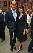 Mark Strong and Liza Marshall attend the Olivier Awards Summer Party in celebration of the new exhibition 'Curtain Up' at The VA on July 4 2016 in...