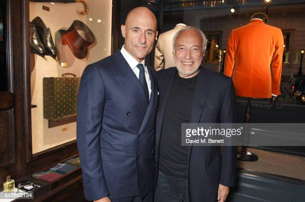 Mark Strong and Stephen Marks attend the launch of the 'Kingsman' shop on St James's Street in partnership with MR PORTER MARV Twentieth Century Fox...