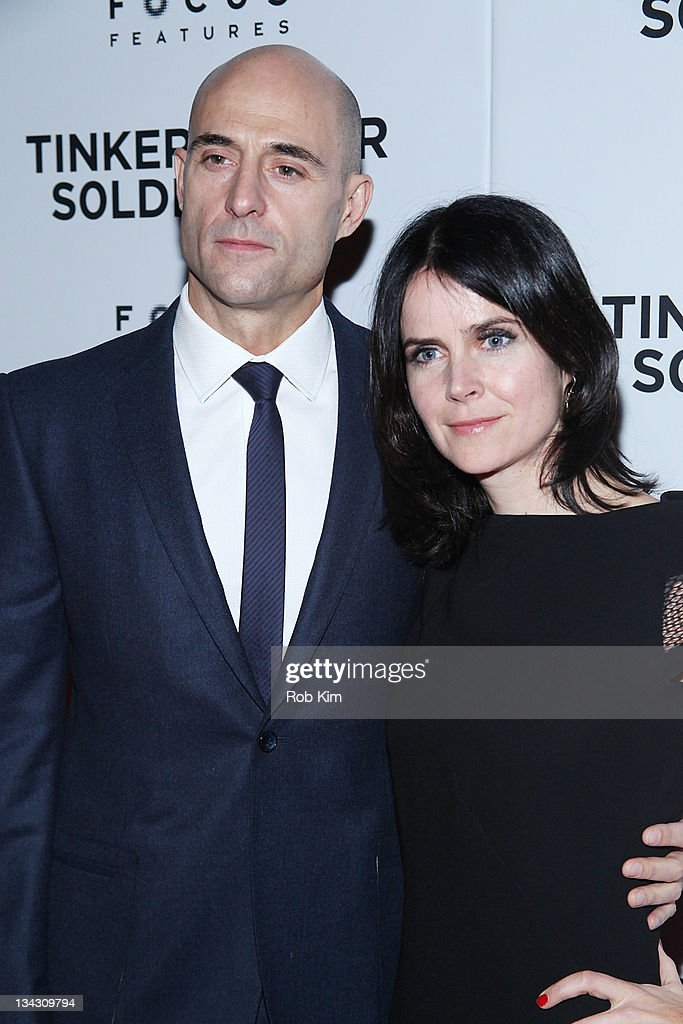 Mark Strong and wife Liza Marshall attend the premiere of 'Tinker Tailor Soldier Spy' at Landmark Sunshine Theater on November 30, 2011 in New York City.