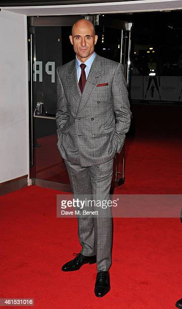 Mark Strong attends the World Premiere of 'Kingsman The Secret Service' at Odeon Leicester Square on January 14 2015 in London England
