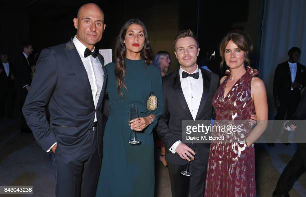 Mark Strong Karima McAdams Joe Dempsie and Liza Marshall attend the GQ Men Of The Year Awards at the Tate Modern on September 5 2017 in London England