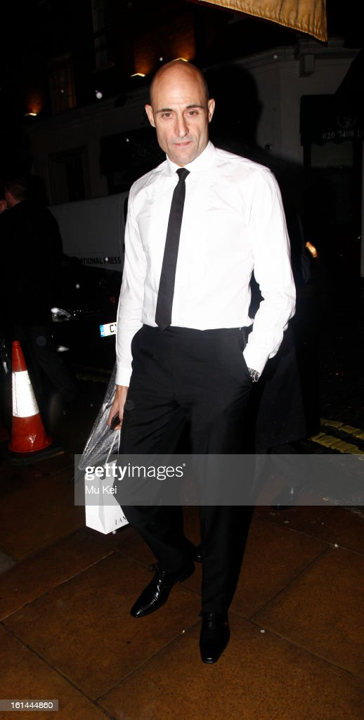 Mark strong sighting on February 10, 2013 in London, England.
