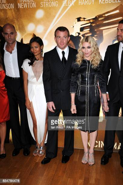 Mark Strong Thandie Newton Guy Ritchie Madonna and Gerard Butler arrive for the UK Film Premiere of RocknRolla at the Odeon West End Cinema Leicester...