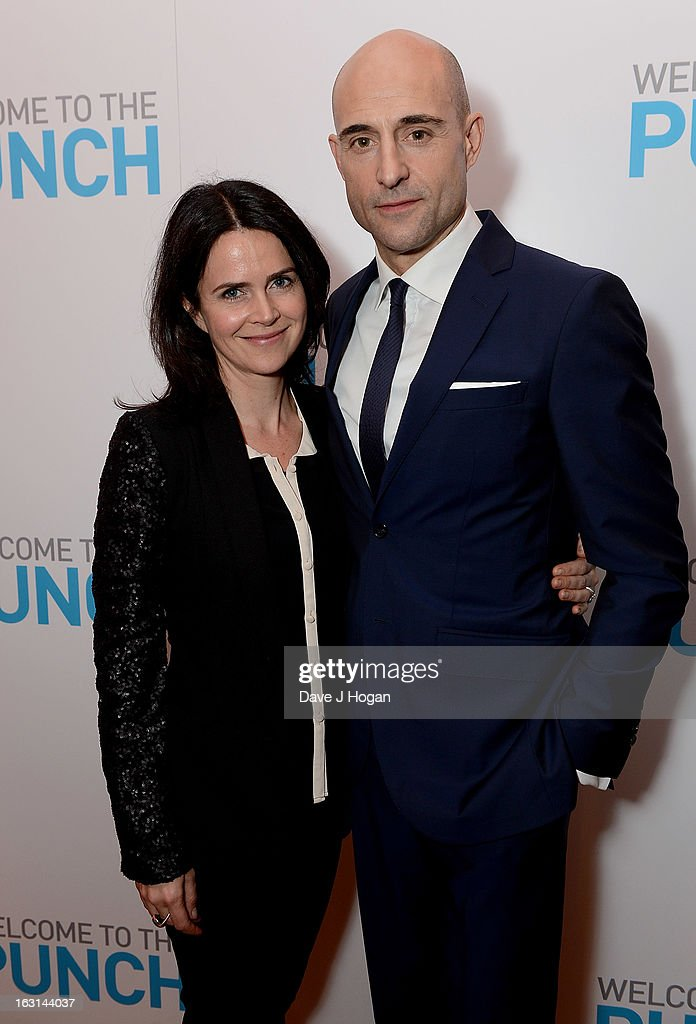 Mark Strong with his wife Liza Marshall attend the 'Welcome To The Punch' UK Premiere at the Vue West End on March 5, 2013 in London, England.