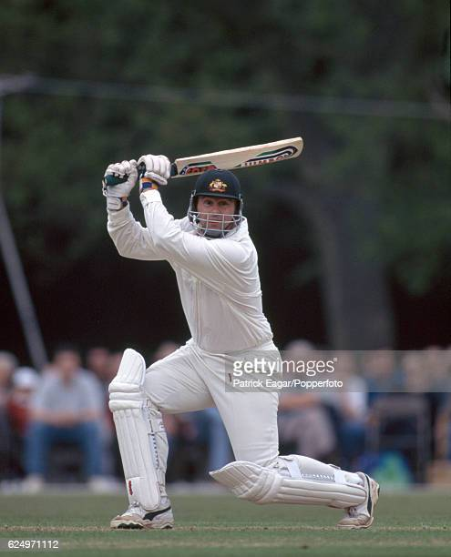 Mark Taylor batting for Australia during the tour match between the Duke of Norfolk's XI and the Australians at Arundel 15th May 1997