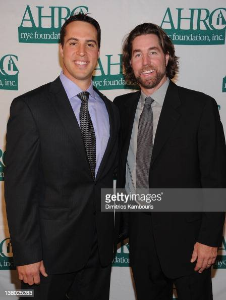 Mark Teixeira and RA Dickey attend the 32nd Annual Thurman Munson Awards at the Grand Hyatt on January 31 2012 in New York City