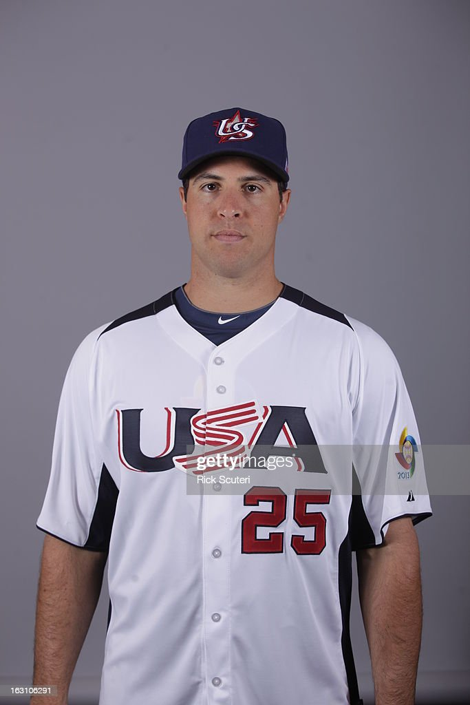 Mark Teixeira #25 of Team USA poses for a headshot for the 2013 World Baseball Classic on Monday, March 4, 2013 at Salt River Fields at Talking Stick in Scottsdale, Arizona.