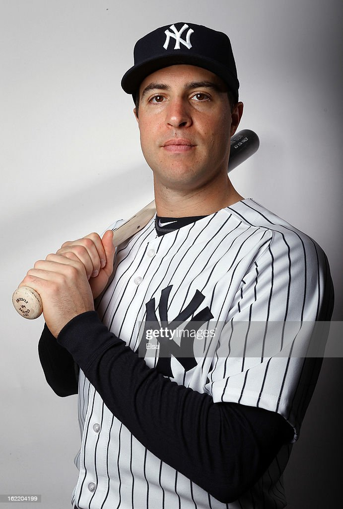 <a gi-track='captionPersonalityLinkClicked' href=/galleries/search?phrase=Mark+Teixeira&family=editorial&specificpeople=209239 ng-click='$event.stopPropagation()'>Mark Teixeira</a> #25 of the New York Yankees poses for a portrait on February 20, 2013 at George Steinbrenner Stadium in Tampa, Florida.