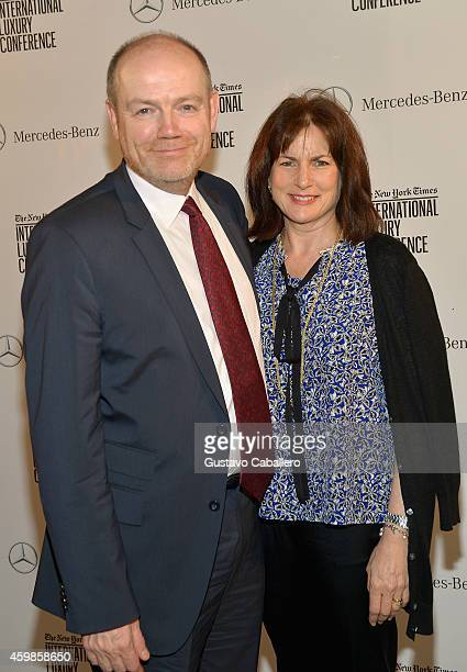Mark Thompson President and CEO The New York Times Company and Jane Thompson attend the The New York Times International Luxury Conference Gala at...
