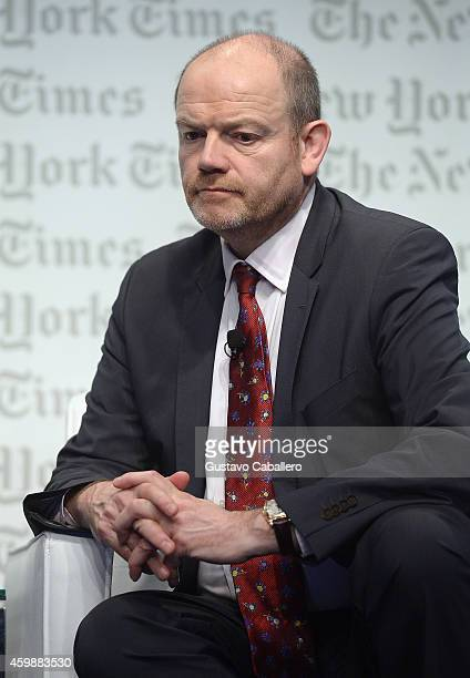 Mark Thompson President and CEO The New York Times Company onstage at the The New York Times International Luxury Conference at Mandarin Oriental on...