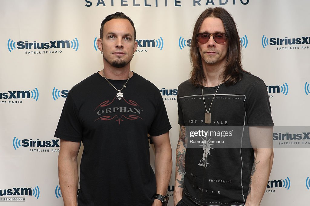 <a gi-track='captionPersonalityLinkClicked' href=/galleries/search?phrase=Mark+Tremonti&family=editorial&specificpeople=869856 ng-click='$event.stopPropagation()'>Mark Tremonti</a> (L) and <a gi-track='captionPersonalityLinkClicked' href=/galleries/search?phrase=Myles+Kennedy&family=editorial&specificpeople=2140249 ng-click='$event.stopPropagation()'>Myles Kennedy</a> of Alter Bridge visit SiriusXM Studios on September 11, 2013 in New York City.