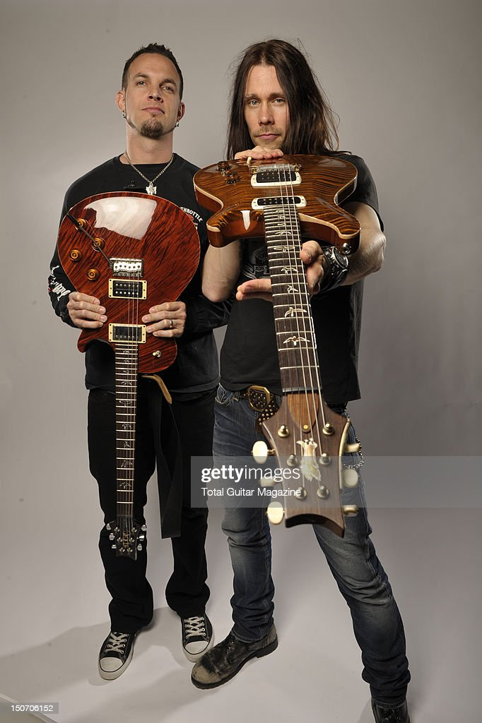 Mark Tremonti and Myles Kennedy of American rock band Alter Bridge backstage at Download Festival June 10 Donington Park