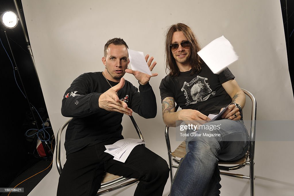Mark Tremonti and Myles Kennedy of American rock band Alter Bridge during an interview backstage at Download Festival June 10 Donington Park