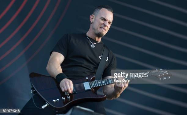 Mark Tremonti of Alter Bridge performing live on Day 3 of Download Festival at Donington Park on June 11 2017 in Castle Donington UK