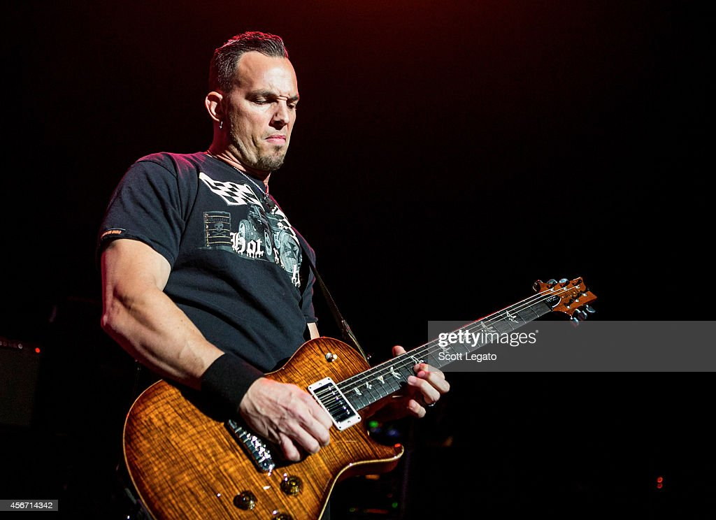 Mark Tremonti of Alter Bridge performs at The Fillmore Detroit on October 5, 2014 in Detroit, Michigan.