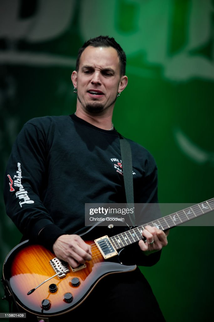 Mark Tremonti of Alter Bridge performs on the main stage on Day 1 of Download Festival at Donington Park on June 10, 2011 in Castle Donington, England.