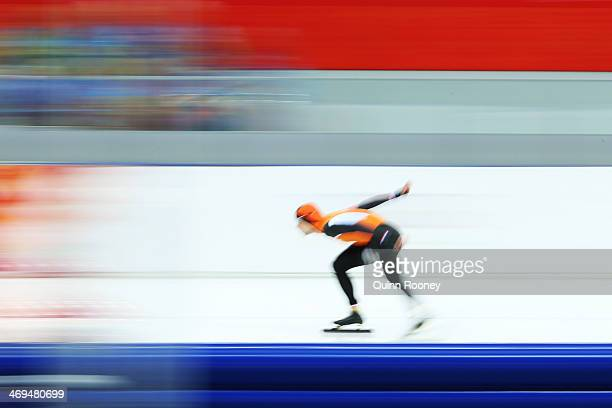Mark Tuitert of the Netherlands competes during the Men's 1500m Speed Skating event on day 8 of the Sochi 2014 Winter Olympics at Adler Arena Skating...
