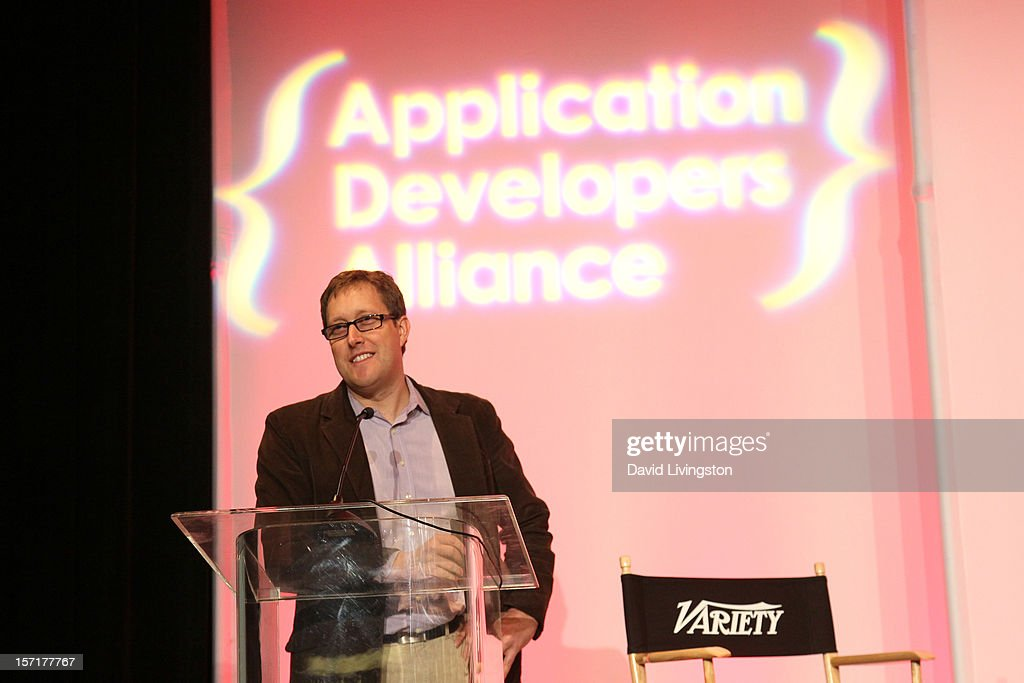 Mark Turner, Director, Relationships & Strategy, Microsoft Media & Entertainment Group, makes a presentation at Variety's Entertainment Apps Conference in Association with Application Developers Alliance at Sheraton Hotel on November 29, 2012 in Universal City, California.