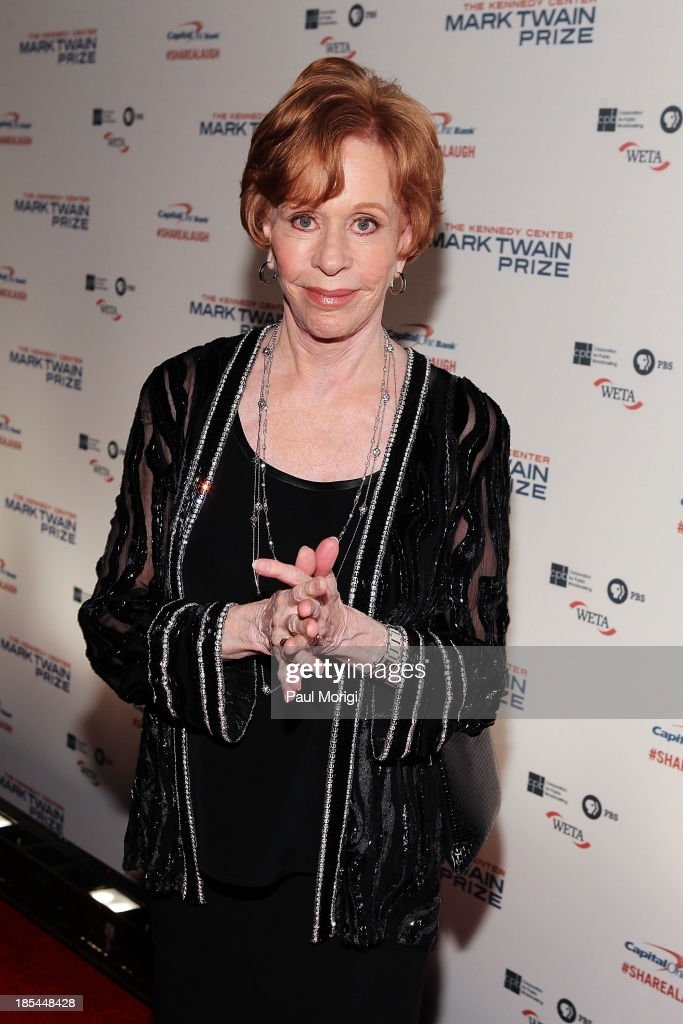 Mark Twain Prize recipient <a gi-track='captionPersonalityLinkClicked' href=/galleries/search?phrase=Carol+Burnett&family=editorial&specificpeople=206201 ng-click='$event.stopPropagation()'>Carol Burnett</a> attends The 16th Annual Mark Twain Prize For American Humor at John F. Kennedy Center for the Performing Arts on October 20, 2013 in Washington, DC.