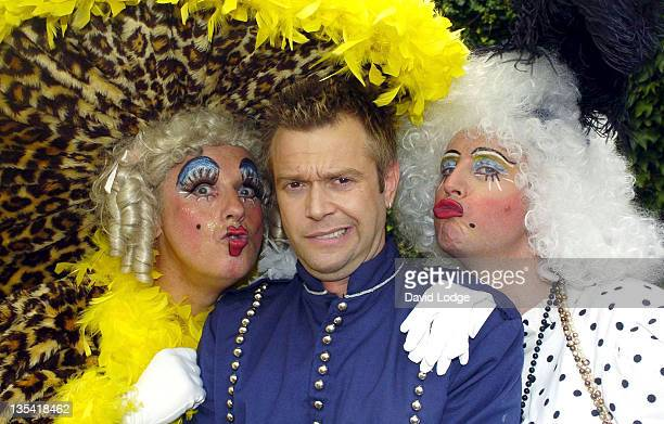 Mark Two Darren Day and Simon Bashford during Darren Day Appears in 'Cinderella' Pantomime Photocall at The Orchard Theater in London Great Britain