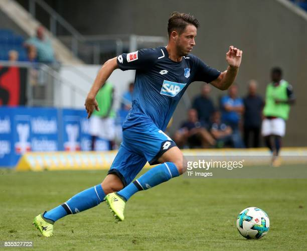 Mark Uth of Hoffenheim controls the ball during the preseason friendly match between TSG 1899 Hoffenheim and FC Bologna on August 5 2017 in Sinsheim...