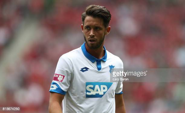 Mark Uth of Hoffenheim looks on during the Telekom Cup 2017 match between Bayern Muenchen and 1899 Hoffenheim at on July 15 2017 in Moenchengladbach...