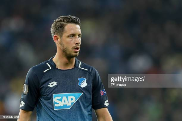 Mark Uth of Hoffenheim looks on during the UEFA Europa League Group C match between 1899 Hoffenheim and Istanbul Basaksehir FK at Wirsol...