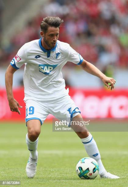 Mark Uth of Hoffenheim runs with the ball during the Telekom Cup 2017 match between Bayern Muenchen and 1899 Hoffenheim at on July 15 2017 in...