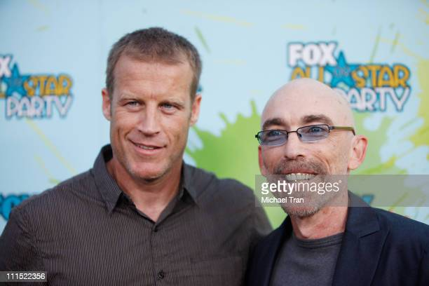 Mark Valley and Jackie Earle Haley arrive to the FOX AllStar Party for the 2009 TCA Summer Tour held at The Langham Resort on August 6 2009 in...
