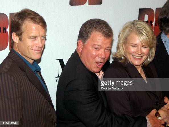 Mark Valley William Shatner and Candice Bergen during 'Boston Legal' Season One DVD Debut Party at The 21 Club in New York City New York United States