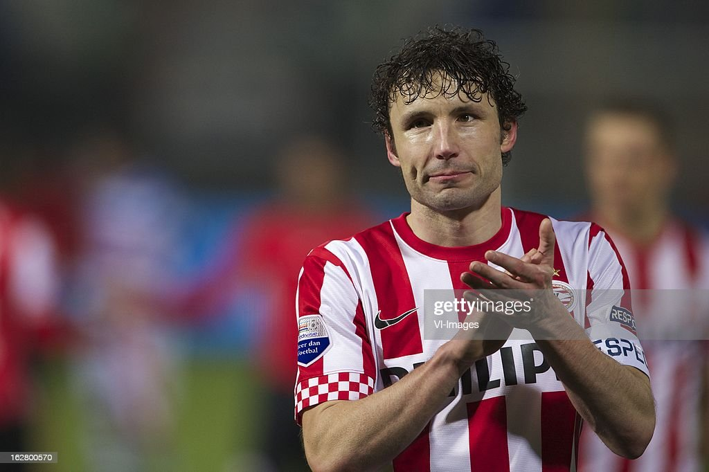 Mark van Bommel of PSV during the Dutch Cup match between PEC Zwolle and PSV Eindhoven at the IJsseldelta Stadium on february 27, 2013 in Zwolle, The Netherlands