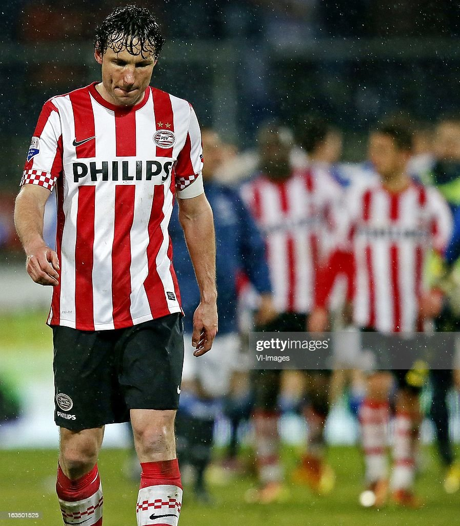 Mark van Bommel of PSV during the Dutch Eredivisie match between SC Heerenveen and PSV Eindhoven at the Abe Lenstra Stadium on march 09, 2013 in Heerenveen, The Netherlands
