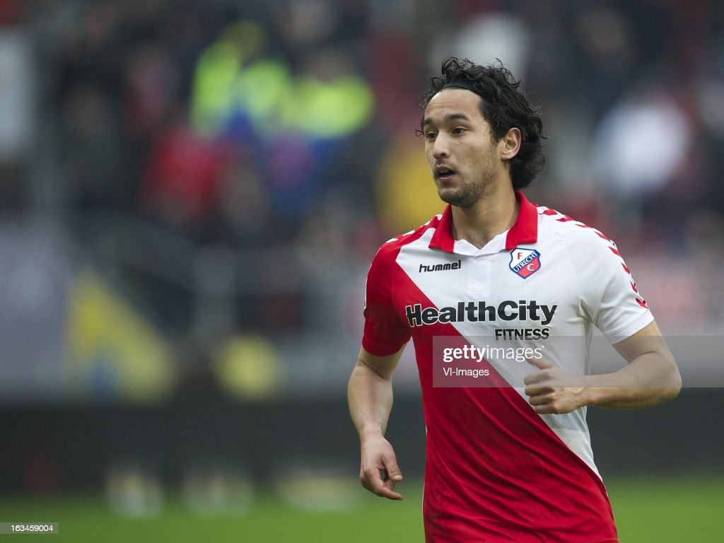 Mark van der Maarel of FC Utrecht during the Dutch Eredivisie match between FC Utrecht and RKC Waalwijk at the Galgenwaard on march 10, 2013 in Utrecht, The Netherlands
