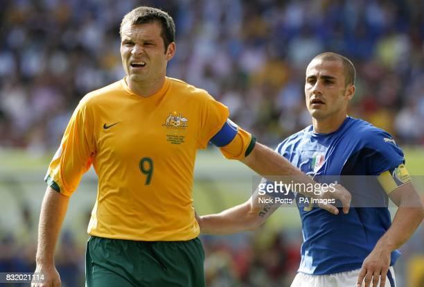 Mark Viduka Australia and Fabio Cannavaro Italy