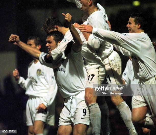 LEAGUE Mark Viduka of Leeds left celebrates his equaliser during the Premiership clash againt Bradford