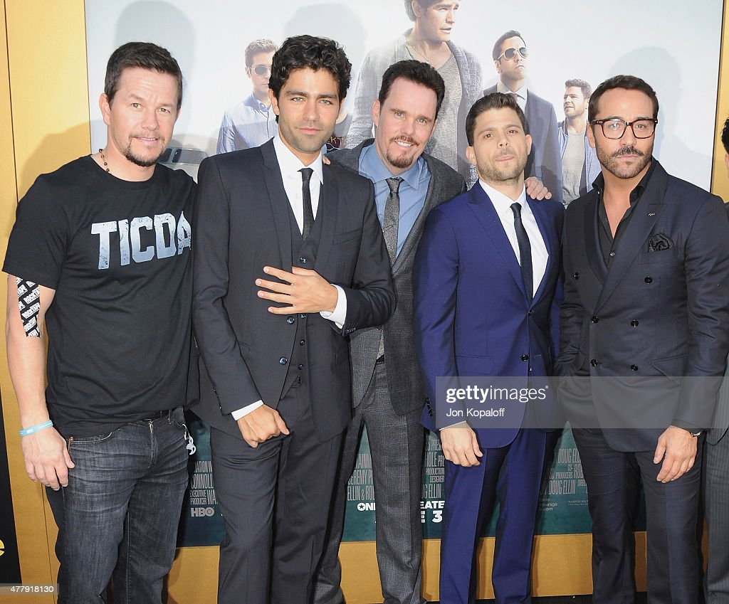 Mark Wahlberg, Adrian Grenier, Kevin Dillon, Jerry Ferrara and Jeremy Piven attend at the Los Angeles Premiere 'Entourage' at Regency Village Theatre on June 1, 2015 in Westwood, California.