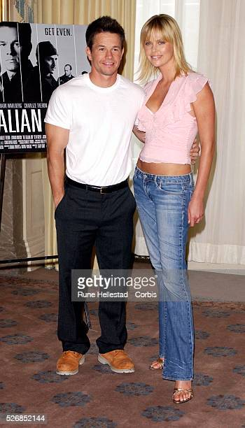 Mark Wahlberg and Charlize Theron attend a photocall for 'The Italian Job' at Claridge's Hotel
