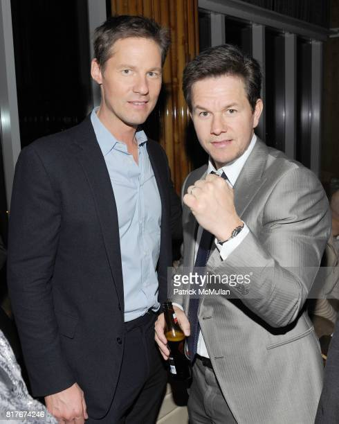 Mark Wahlberg and David Zinczenko attend THE CINEMA SOCIETY and MEN'S HEALTH JP MORGAN CHASE FOUNDATION host the after party for 'THE FIGHTER' to...
